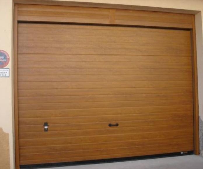 Puertas seccionales: Servicios de Cerramientos José Pastor