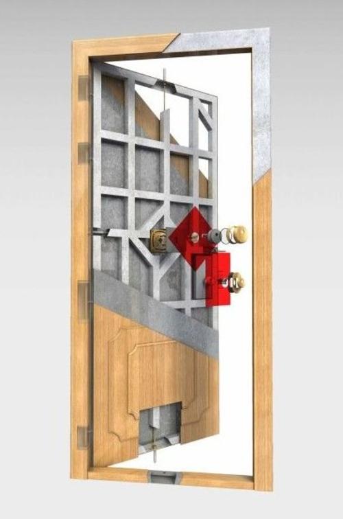 Puertas acorazadas Barcelona- puertas miret,modelo Olimpo