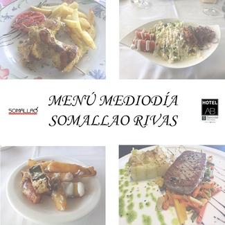 Restaurante Somallao Rivas Menú de la semana 22 al 26 de Marzo de 2021