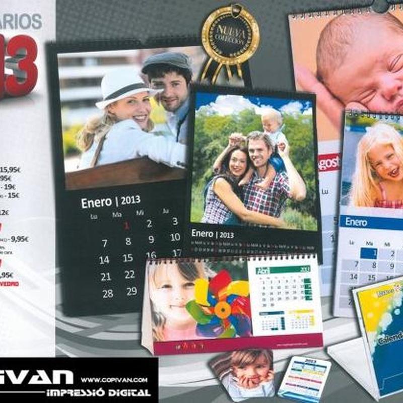 Calendarios personalizados: Catálogo de Copistería Copivan