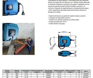 Enrollador de cable serie C20 C30 - Nederman Aragón