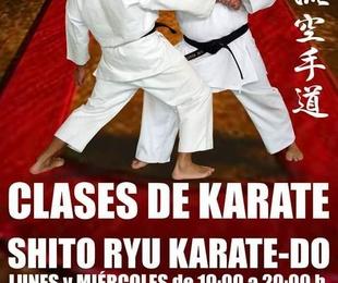 Clases de Karate en el dojo
