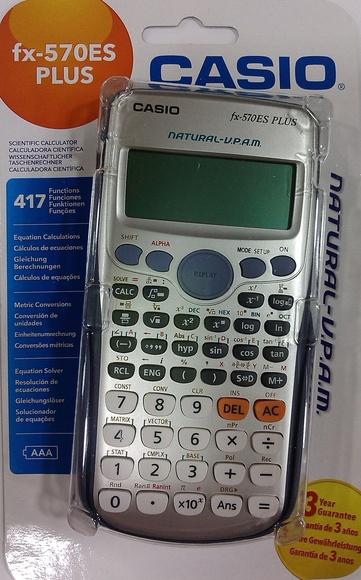 CALCULADORA CIENTÍFICA CASIO FX-5702ES PLUS: Productos y servicios de Papelería Formatos