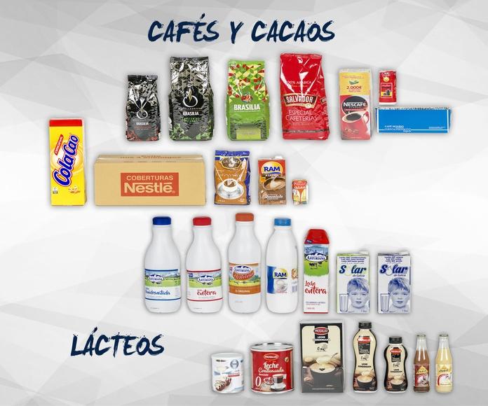 Cafés, cacaos y lácteos