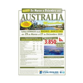 Super oferta  a Australia de Marzo a Diciembre 2020
