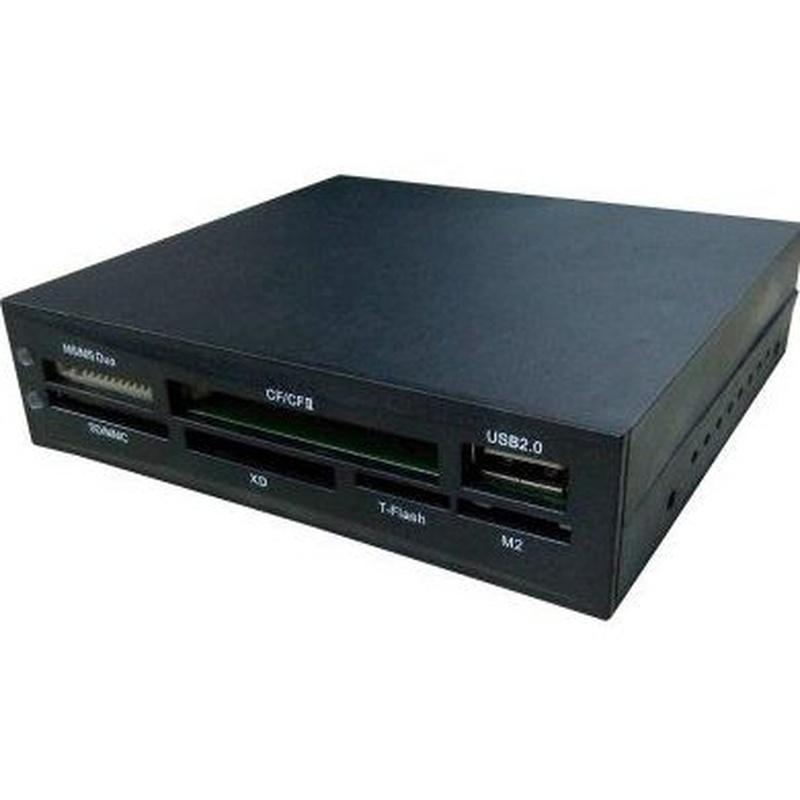 """CoolBox CR-404 Lector 3½"""" USB 2.0 Interno Negro: Productos y Servicios de Stylepc"""