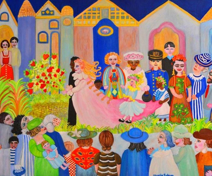 El ramo del jardín de Frida.60x100cm. oleo/tela.