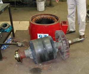 Desmontaje y cambio de rodamientos de motor eléctrico