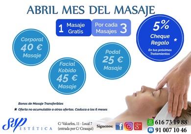 Abril mes del masaje