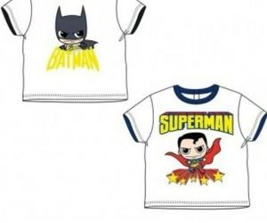 Camiseta de manga corta 100% algodón para los más peques de super héroes