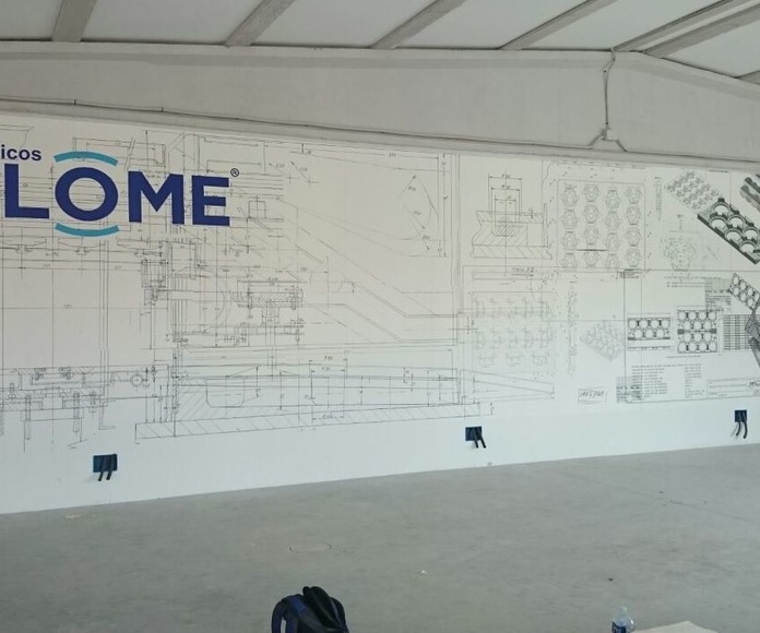 Mural de vinilo, impresión digital 13x3 sobre pared