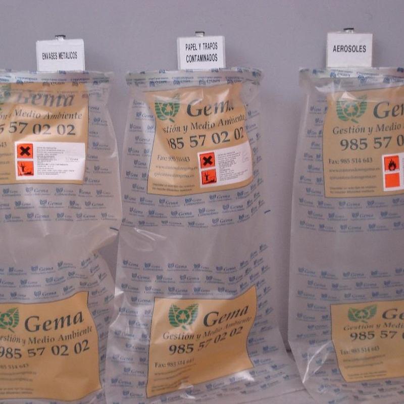 Gestor almacenista de residuos peligrosos : Catálogo de Contenedores Gema