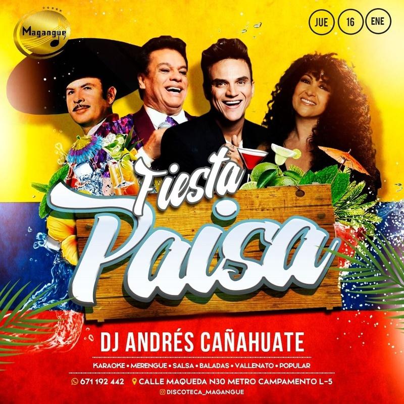 JUEVES PAISA : Sala y actuaciones de Magangue