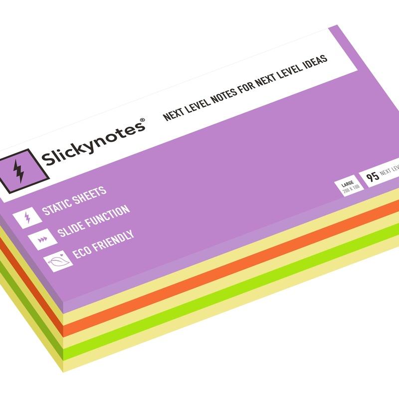 NL-6A - Pack 6 Slickynotes 200x100 mm Colores: Productos y Servicios de Rosan