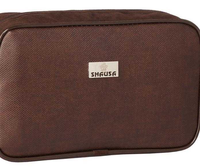 Bolsa de aseo marrón caballero