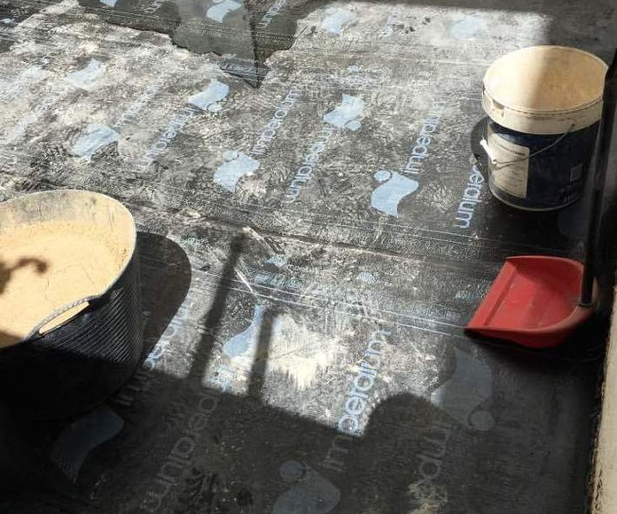 Impermeabilización de patios y terrazas