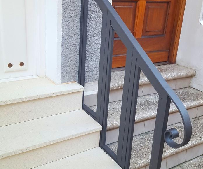 Barandilla de hierro para vivienda pareada en Bilbao