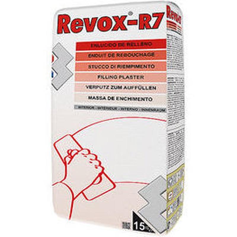 R-7 Revox Enlucido de Rellenos en tienda de pinturas en ciudad lineal.
