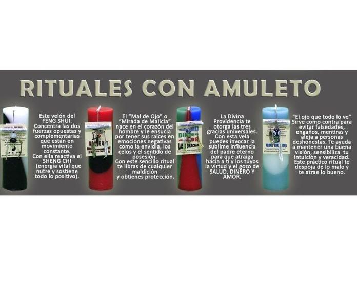Rituales con amuleto: Productos de Alumbra a toda Vela
