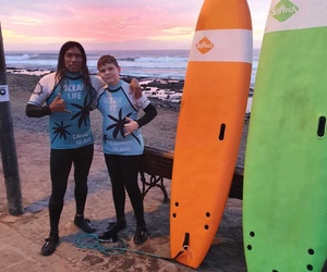 Robert from Rumania after sunset surfing!