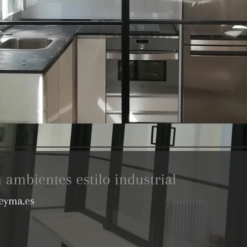 Cristalera de estilo industrial en Madrid centro | Cerrajería Geyma