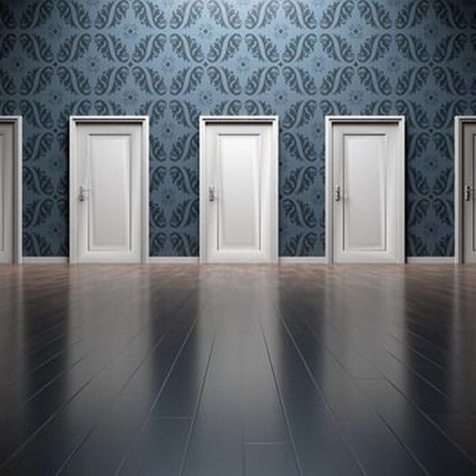 Puerta de PVC corredera y abatible al mismo tiempo: características y ventajas