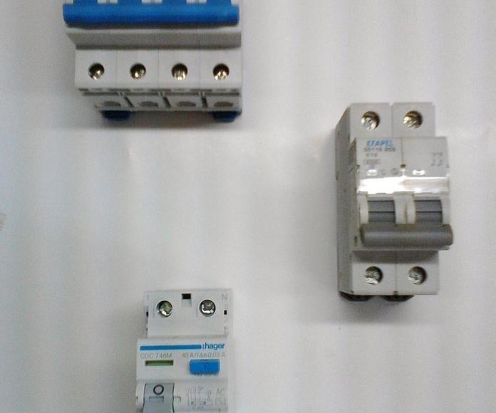 interruptore autom'aticos , diferenciales , ICPM