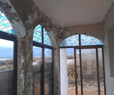 nuevo arreglo pequeña terraza paredes y techo