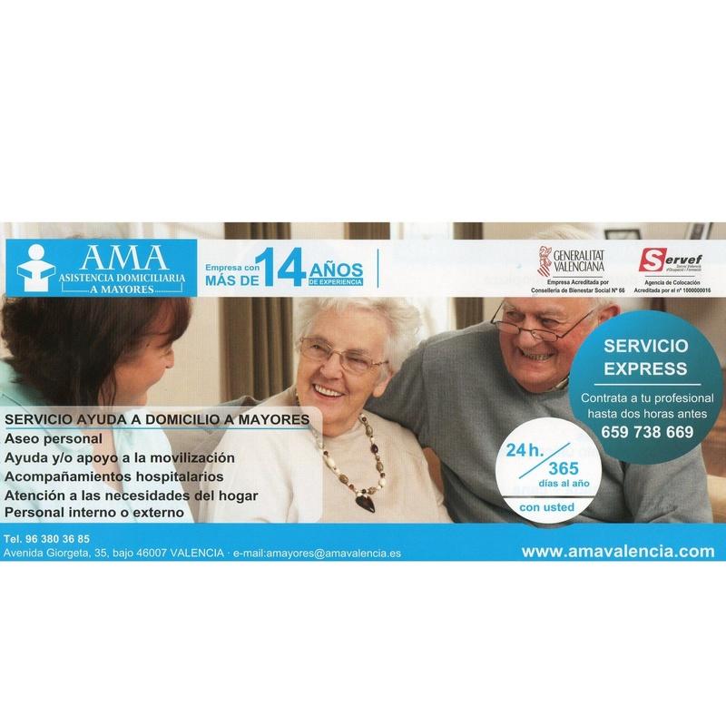 Auxiliares de Ayuda a Domicilio y Empleadas de Hogar: QUE LE PODEMOS OFRECER de AMA Asistencia Domiciliaria