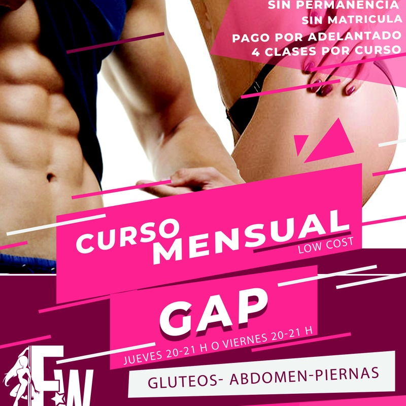 CURSO GAP LOW COST: CLASES Y MÁS... de Feeling Woman Pole Dance-Sport