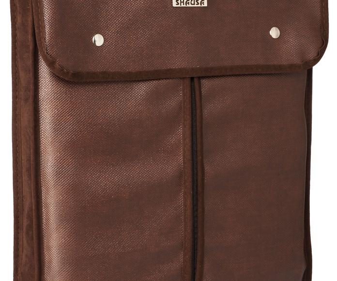 Porta camisas viaje marrón caballero