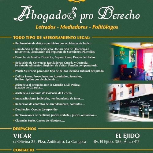 Tramitación de herencias Vicar | Abogados Pro Derecho - Lic. Alberto Martín Maldonado