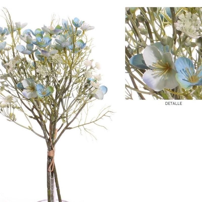 ATADO MINI FLOWER (40CM)/ AZUL REF: 7109_AZU PRECIO: 10,80€/PQTE (A 0,90€/UD)
