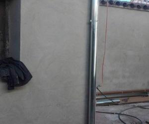 Canalón redondo de aluminio