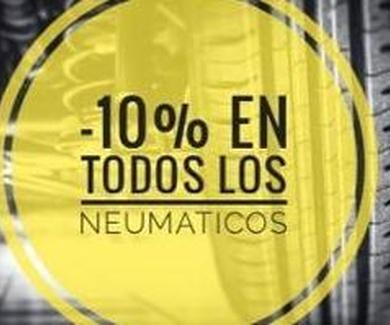 10 % Descuento en todos los neumáticos