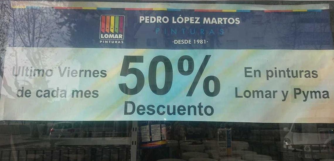 50% de descuento en Pinturas Lomar y Pyma en Marbella