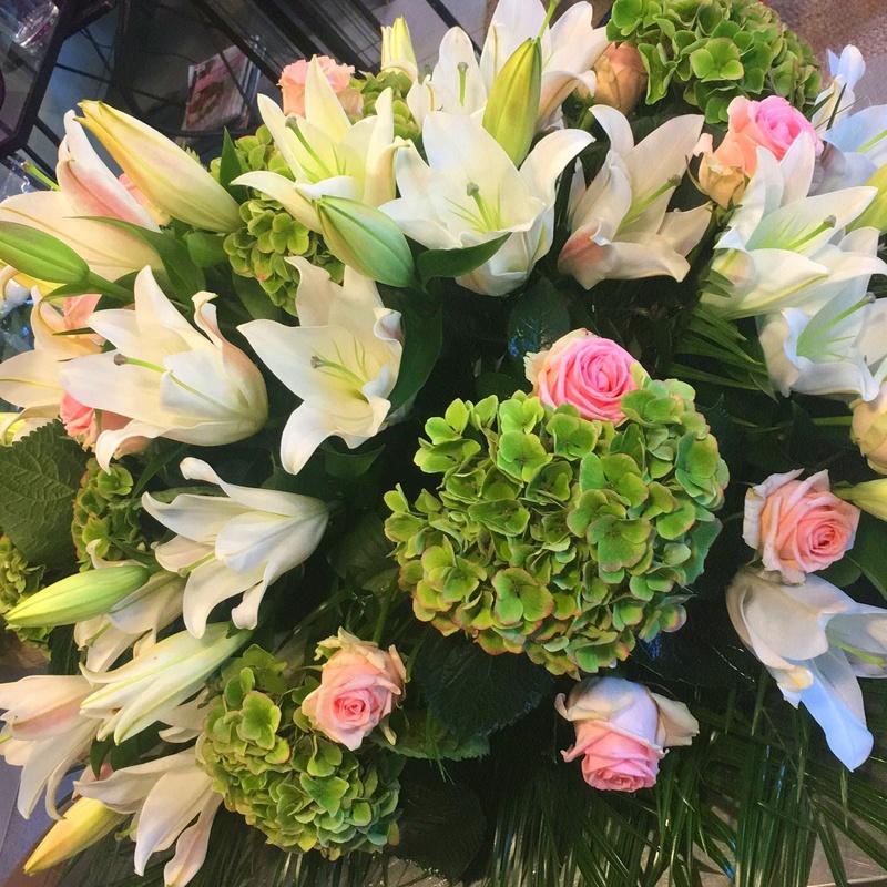 Cojines florales funerarios.