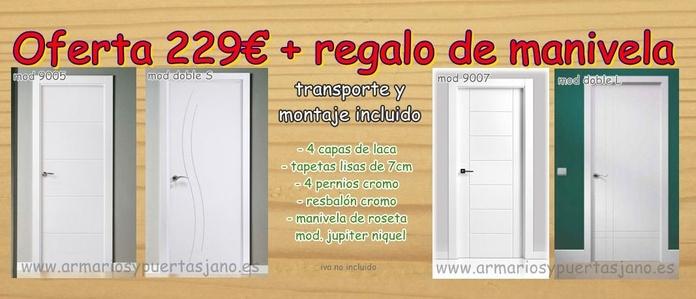 Puertas baratas lacadas en Madrid y Toledo
