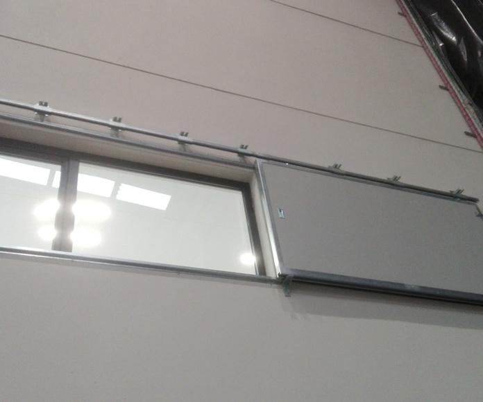 Puerta Corredera cortafuegos tipo ventana contrapeso en cierre EI2-60 Santander
