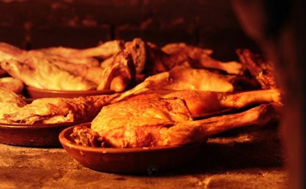 cordero asado en horno de leña Guadarrama