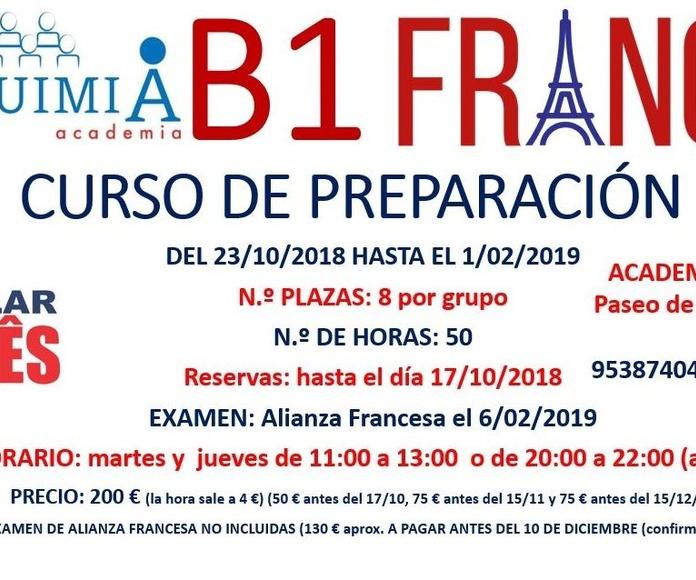 B1 DE FRANCES. (Examen Alianza Francesa 6 FEBRERO 2019): NUESTRA OFERTA FORMATIVA de Alquimia