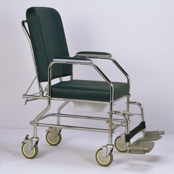Silla de ruedas fija con respaldo reclinable