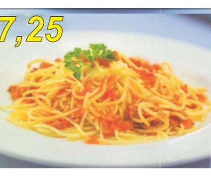 Spaghetti boloñesa: Carta de Casa Luciano