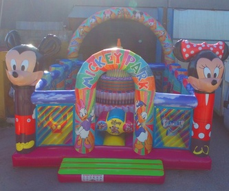Castillo hinchable tobogán simple 2 obstáculos disney: Catálogo de Hinchables Happy Jump