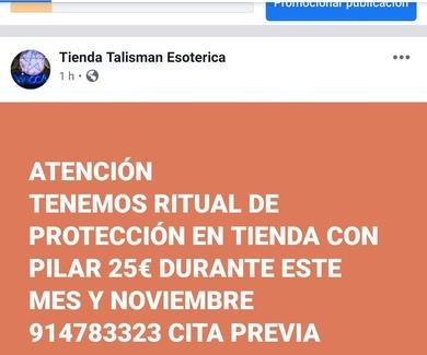 Ritual de protección en talismán