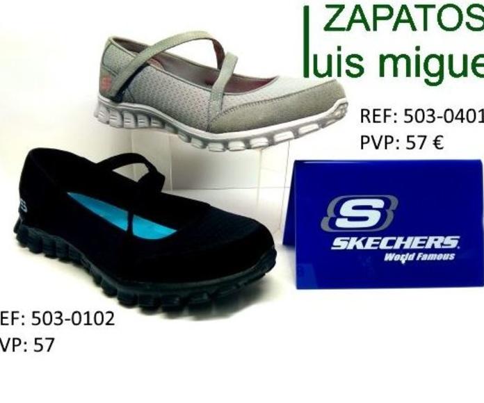 zapatillas tipo mercedes con velcro sckechers: Catalogo de productos de Zapatos Luis Miguel