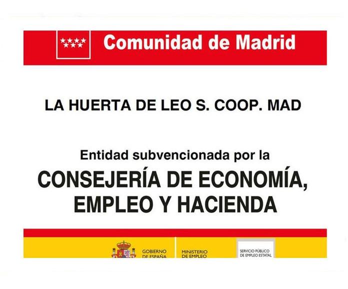 Entidad subvencionada por la consejería de Economía Empleo y Hacienda