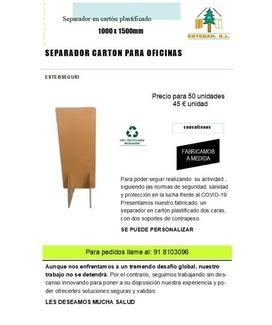 SEPARADORES PARA DIFERENTES PUESTOS DE TRABAJO