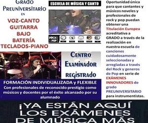 Grado preuniversitario en Música Moderna ROCK&POP de TRINITY College London en Madrid