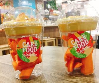 Rebanadas finas de pan rústico: Carta de Care Food